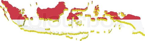 indonesia map vector free vectors 3d map of indonesia stock vector colourbox