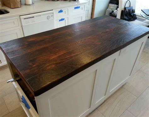 diy distressed wood countertops diy wood countertops in fashionable reclaimed wood counter
