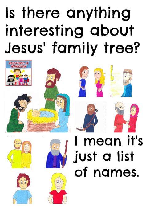 printable family tree of jesus jesus genealogy lesson