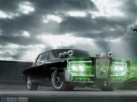 Green Hornet Auto by Photographing The Green Hornet Car Using An