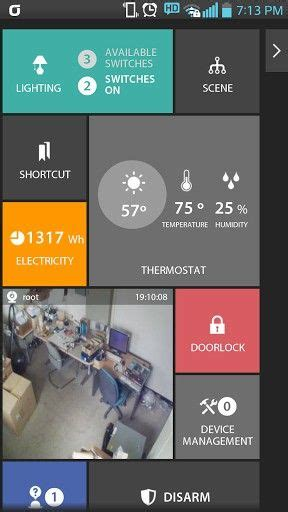 android automation app enblink android app tv lighting plugin dashboard home screen ui ipad