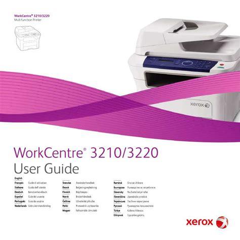 Xerox Cp235w Cover By M mode d emploi xerox workcentre 3220 imprimante