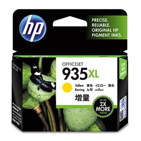 Tinta Hp 935xl Yellow Original Berkualitas hp cartucho n 186 935xl amarillo officejet pro 6830 098340