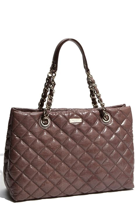 Helena Bag kate spade liberty helena quilted shoulder bag in brown grey lyst