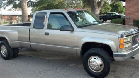 how cars engines work 1998 gmc 3500 club coupe user handbook sell used 1998 gmc chevy 3500 sierra dually 4x4 truck extended cab excellent condition in