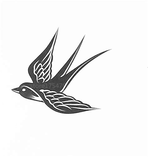 harry styles tattoo vector fashion waterproof temporary tattoo sticker flying swallow