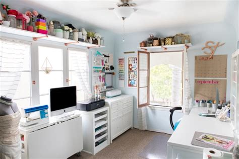 furniture for craft room check out jen from something turquoise s new craft room