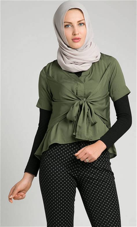 Atasan Santung Dewasa model baju atasan wanita muslim dewasa terbaru 2017 terbaru 2017