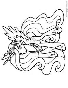 princess celestia coloring pages my pony princess celestia and princess and