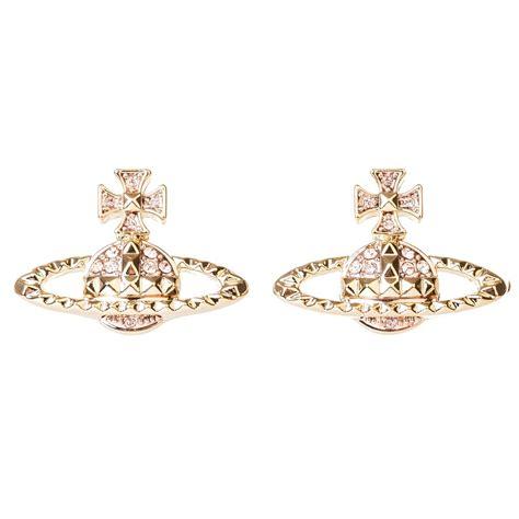 vivienne westwood mayfair bas relief earrings gold