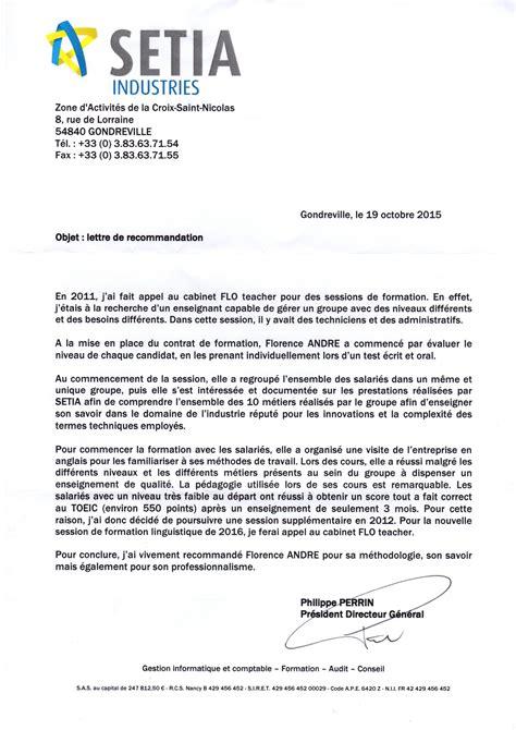 Lettre De Recommandation Formation Doc Lettre De Recommandation Pour Une Formation