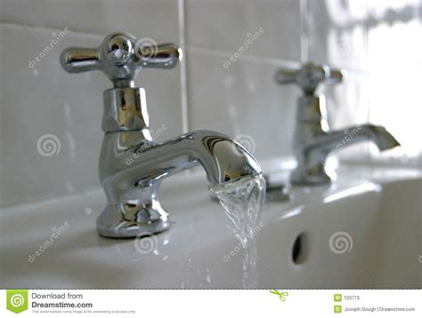 Commercial Kitchen Sink Faucet running water bathroom taps stock photos image 103773