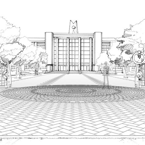 Sketches School by Concept Sketch Of Gekkoukan High School Jpg