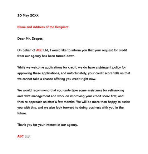 letter credit sample letter