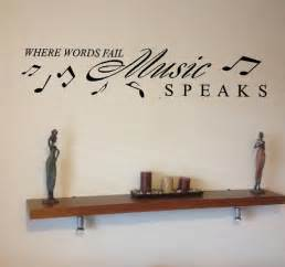 Music Wall Art Stickers music speaks slogan and music notes home wall art sticker vinyl