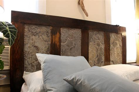 headboard made out of an door for the home