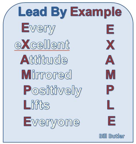i like the acronym on this for leading by exle