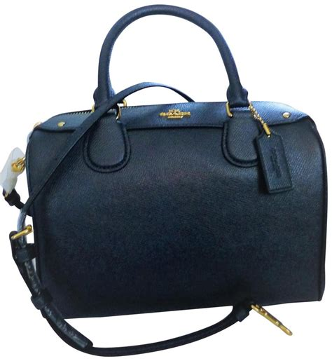 sold tas coach mini bannett satchel midnight authentic coach mini in crossgrain f57521 midnight navy