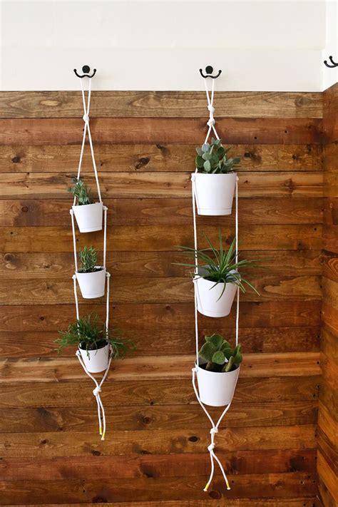 three tier hanging herb planter garden therapy 3 tier indoor rope planter
