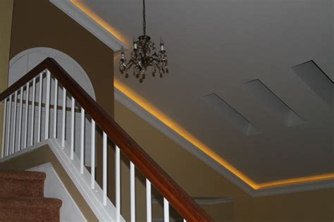 Crown Moulding Vaulted Ceiling by Lighted Crown On A Vaulted Ceiling