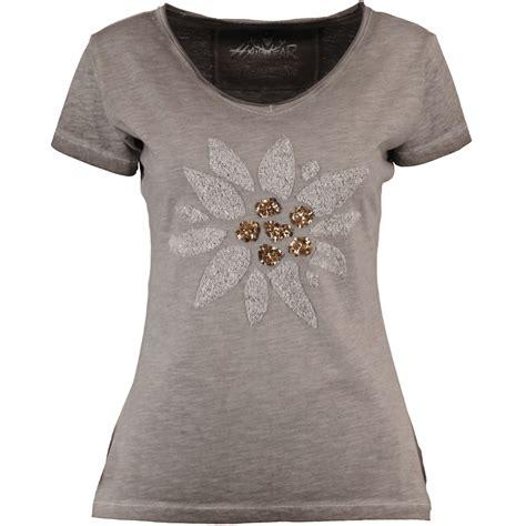 hangowear damen trachten  shirt missy grau alm fashion