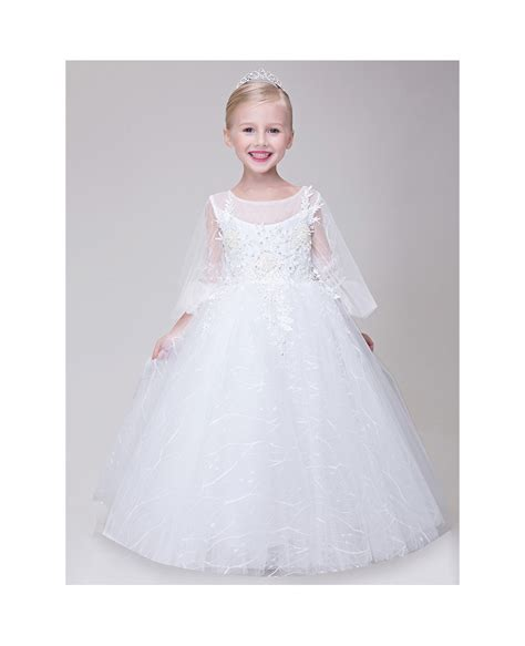 beaded flower dresses tulle lace beaded flower dress with