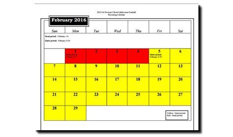 Ncaa Recruiting Calendar The College Football Recruiting Dead Period Ends At