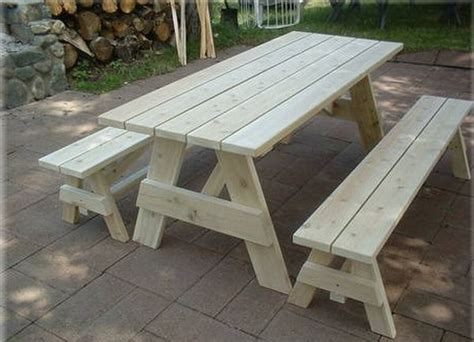 bench to picnic table plans picnic table with detached benches treenovation