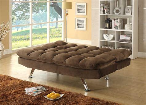 Click Clack Sofa by Homelegance Jazz Click Clack Sofa Bed Chocolate