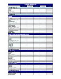 Blank Personal Budget Template printable monthly budget finance planner event budget