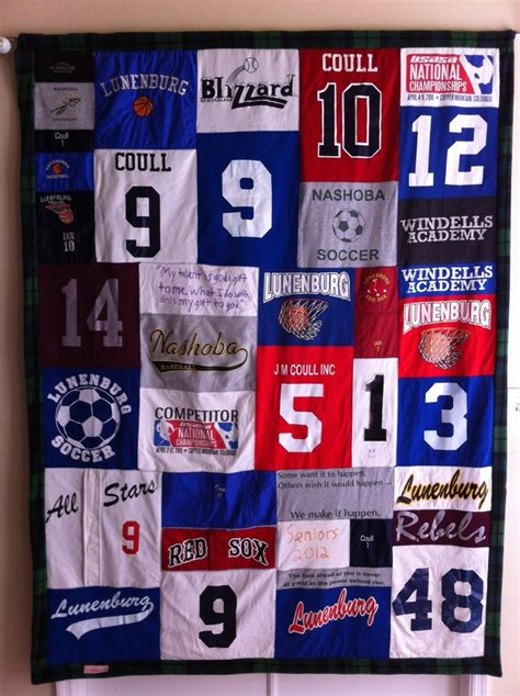 Quilts Made From Sports Jerseys by 17 Best Images About Sports Memory T Shirt Quilt On