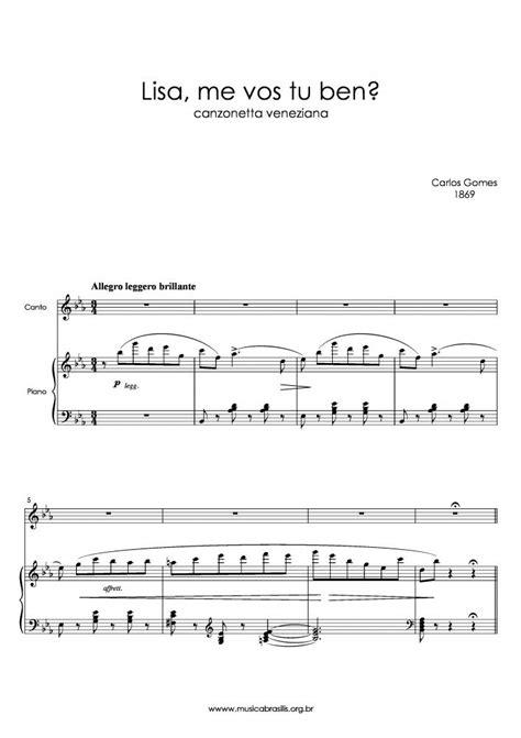 Carlos Gomes - Lisa, me vos tu ben? | Musica Brasilis