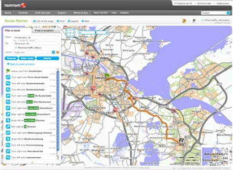 printable map route planner tomtom launches free online route planner automotive