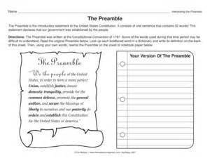 results for the constitution worksheet guest the mailbox