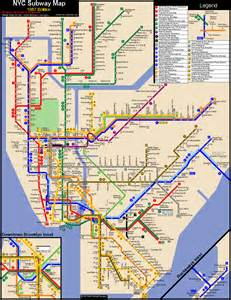 Nuc Subway Map by Nyc Subway Map New World Of Maps
