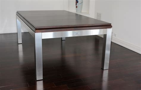 Billiard Table Dining Top Tribeca Stainless Dining Billiard Table Modern Billiard Table