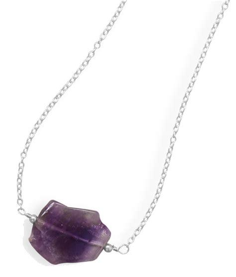 Handmade Amethyst Necklace - handmade amethyst slice necklace 925 sterling silver