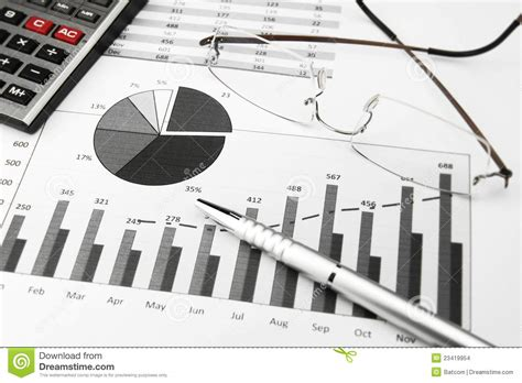 business charts black and white stock images image 23419954
