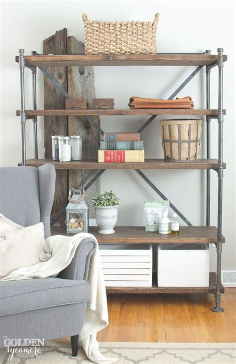 rustic industrial shelving best 25 pipe bookshelf ideas on diy industrial bookshelf industrial bookshelf and