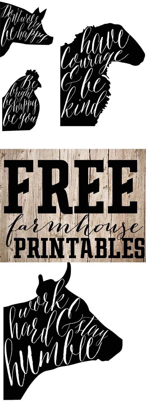 farmhouse decor printables free printable saturday farmhouse animal prints free