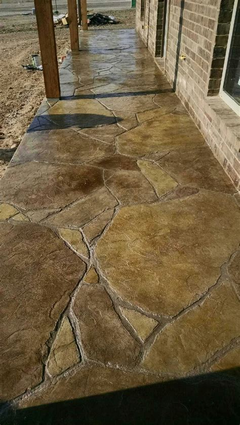 sted and stained concrete patio in flagstone pinterest stained concrete patios stained