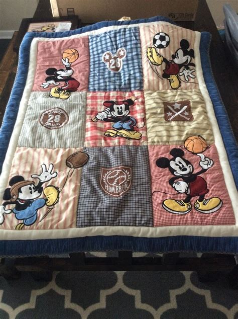 Disney Sports Classic Mickey Mouse Comforter And Dust Classic Mickey Mouse Crib Bedding