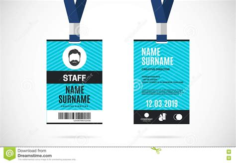 conference id card template event id card template beautiful template design ideas