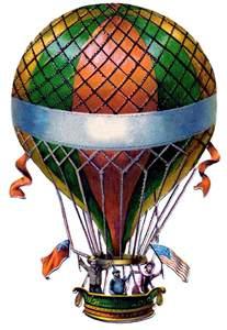 antique graphic air balloon steampunk the graphics fairy