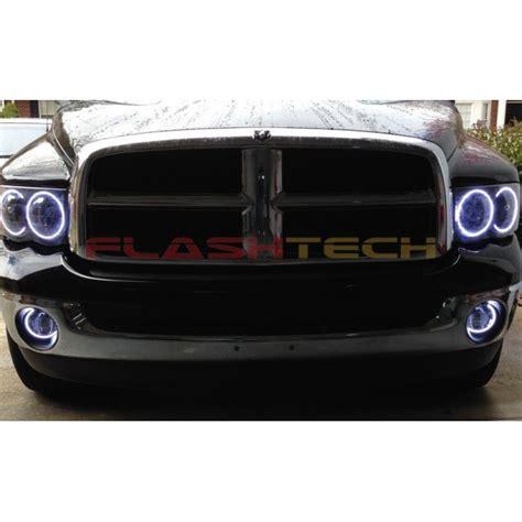 2002 dodge ram led headlights dodge ram white led halo headlight kit 2002 2005