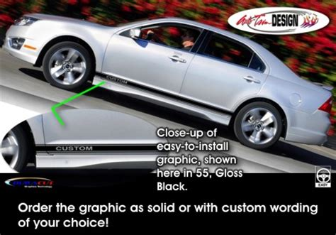 ford fusion body side graphic kit