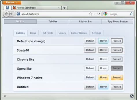 firefox appearance themes customize firefox 4 appearance with stratiform instant