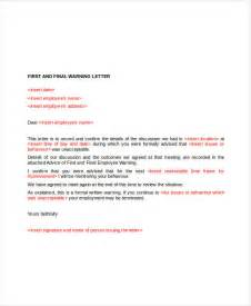 Labour Warning Letter Template Employee Warning Letter Template 6 Free Word Pdf Format Free Premium Templates