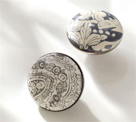 pottery barn cabinet hardware ceramic knobs pottery barn