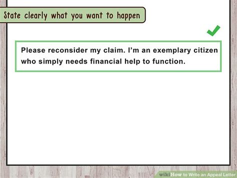 how to write a letter of appeal how to write an appeal letter with pictures wikihow